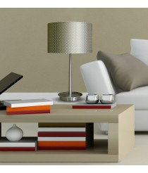 Lámpara de mesa en 3 colores - Piel Troquelada - IDP Lampshades