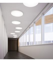 Plafón de techo LED en aluminio y disponible en 2 acabados y 3 dimensiones – Plafo – Pujol Iluminación