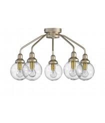Lámpara de techo con 5 luces en color dorado – Dinko – Artesanía Joalpa