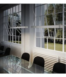 Lámpara colgante forma rectangular en 3 acabados – Prim – Pujol Iluminación