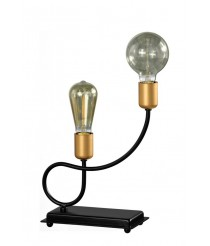 Lámpara de mesa con 2 luces en distinta forma – Kelan – Artesanía Joalpa