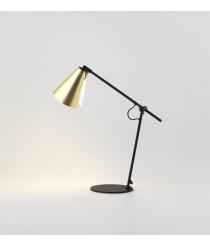 Lámpara de mesa estructura negro mate con pantalla en oro – Boa – Aromas