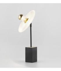 Lámpara de mesa en acero y mármol negro - Sun Light – Aromas