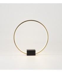 Lámpara de mesa redonda acabado bronce en dos tamaños – Tivoli – Aromas