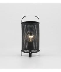 Lámpara de mesa en acero perforado color negro mate – Race – Aromas
