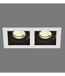 Empotrable de techo de metal blanco 2 luces - San - ACB Iluminación