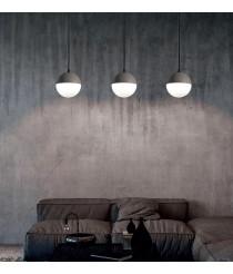Colgante de techo de cemento piedra y cristal  Ø 14 cm - Shiru - ACB Iluminación
