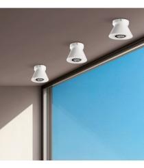 Aplique de techo de cristal de doble capa en cromo y opal Ø 15 cm - Smart - ACB Iluminación