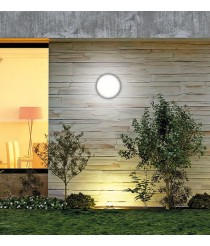 Aplique de techo y pared exterior LED de ABS y acrílico con sensor de movimiento 3000K IP 65 - Tilo - ACB Iluminación