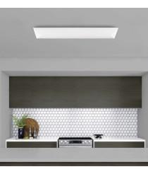 Aplique de techo rectangular LED de metal y acrílico – Urko – ACB Iluminación