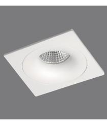 Empotrable de techo en aluminio blanco 1 luz - Waka - ACB Iluminación