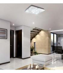 Plafón de techo LED de cristal acabado cromo Ø 51 cm 4000K - Windows - Mantra