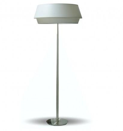 Lámpara de pie con pantalla de 2 piezas en material chins blanco - Lisbeth - IDP Lampshades