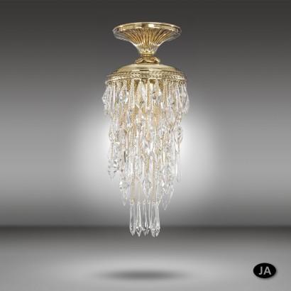Lámpara de techo clásica de bronce con cristales Asfour o Swarovski - Samara - Riperlamp