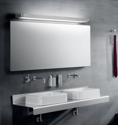 Lámpara para espejos LED en aluminio cromo en 3 tamaños 3000K - Arcos - Pujol Iluminación