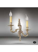 Brass wall lamp with 2 lights and several finishes - Riperlamp