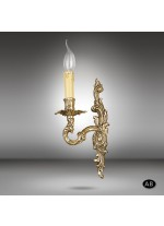 Brass wall light 012Q with 1 light and 2 finishes - Riperlamp