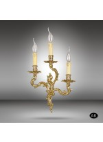 Brass wall lamp 013P with 3 lights and 3 finishes - Riperlamp