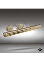 Classic brass picture light with 2 lights available in 3 finishes - 032P - Riperlamp
