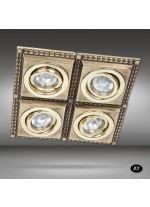 Recessed ceiling spotlight LED 4 lights available in 6 finishes - Line - Riperlamp