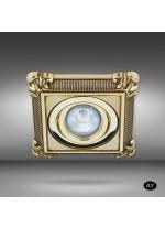 Square brass recessed spotlight LED in 6 finishes - Nicole - Riperlamp