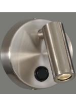 LED aluminium wall light with swingarm spot 3200K - Asen - ACB Iluminación