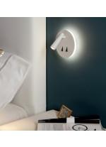 White textured LED wall light 3200K - Panau - ACB Iluminación