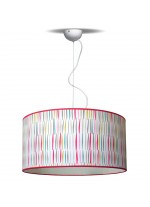 Child's bedroom light with a cotton shade Ø 50 cm – Estampados – IDP Lampshades
