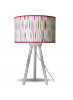 Table lamp with a cylindrical shade made of 100% cotton – Estampados – IDP Lampshades