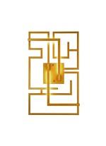 Aplique de pared decorativo de metal LED 2700K – Malevich – MYO