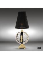 Classic bronze table lamp with Asfour or Swarovski crystal - Arianna - Riperlamp