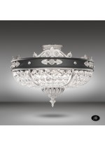 Ceiling light with 6 lights in 3 finishes and Asfour or Swarovski crystals - Arianna - Riperlamp