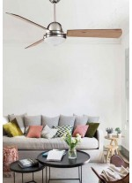 Noiseless fan with reversible blades and a remote control included 2700K- Borneo - Massmi