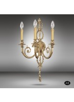 Classic brass wall lamp in 3 finishes with 2 or 3 lights - 591Q - Riperlamp