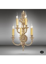 Brass wall lamp in 3 finishes with 5 lights - 592N - Riperlamp