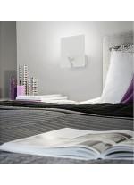 LED white finished steel wall light 3000K - Baltic - Exo - Novolux