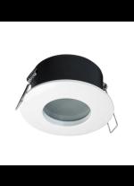 White finished steel and zamak recessed light Ø 8,5 cm IP 65 – Carpo Indeluz – Novolux