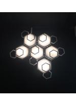 Aplique de pared y techo de latón y cristal – Ramie – MYO