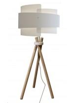 Lámpara de sobremesa estructura de madera con pantalla chins / hasir dos tamaños – Mike – IDP Lampshades