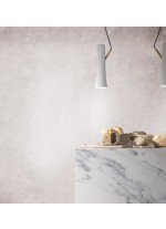 LED ceramic and wood pendant lamp in white finished 3000K - Renaud - Plussmi