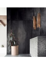 LED metal and wood pendant lamp in 2 finishes 3000K - Lamlamp - Plussmi