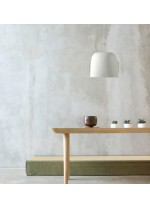 LED ceramic and leather pendant lamp in 2 finishes 3000K - Cowbell - Plussmi