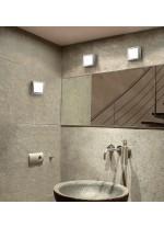 Square chrome gloss wall and ceiling light - Esferic - Pujol Iluminación