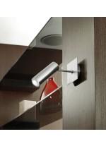 Foco LED acabado níquel con pantalla giratoria y orientable - Tub - Pujol Iluminación
