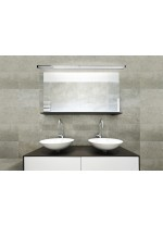 Aplique de pared para espejos en aluminio cromo en 3 tamaños - Arcos - Pujol Iluminación