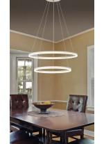 LED metal and methacrylate pendant lamp with 2 rings 3200K - Belenus - ACB Iluminación