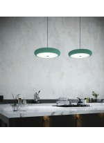 LED pendant lamp in steel available in different colors - Beret - Pujol Lighting