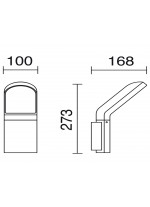 IP54 LED anthracite outdoor wall light - Castello - Dopo - Novolux