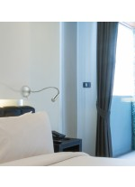 Satin nickel bedside reading lamp - Olvas - Exo - Novolux