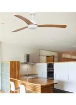 Ventilador de techo 3 palas de madera disponible con o sin luz – Grid – Faro
